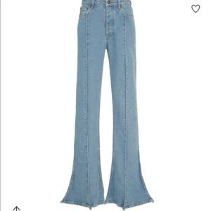 Y/Project High Rise Stretch Trumpet Jeans
